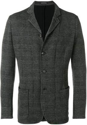 Emporio Armani four-button check blazer
