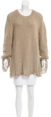 Michael Kors Open Knit Crew Neck Sweater
