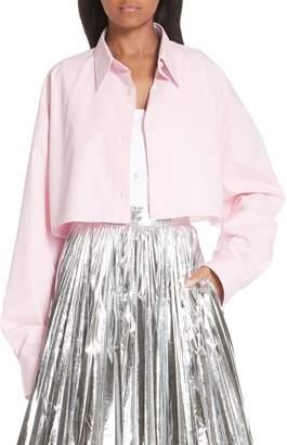 Calvin Klein Layered Cotton Poplin Shirt