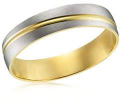 Tag Heuer FINE JEWELLERY Two-Tone 10K Gold Wedding Band