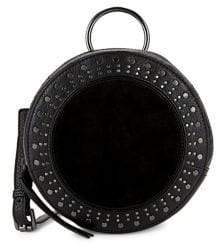 Vince Camuto Julie Circle Studded Leather Crossbody Bag