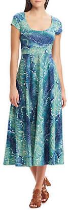Chaps Tropical-Print Cotton Jersey Dress