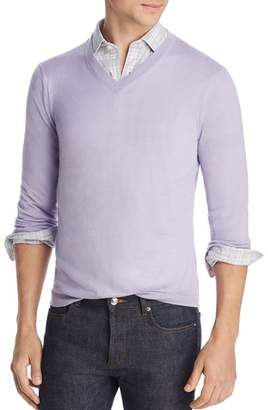 Bloomingdale's The Men's Store at Lightweight Cashmere V-Neck Sweater - 100% Exclusive
