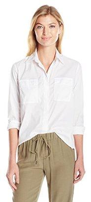 Jones New York Women's Crisp White Cotton Shirt $59.50 thestylecure.com
