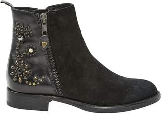 HTC Black Suede Ankle boots