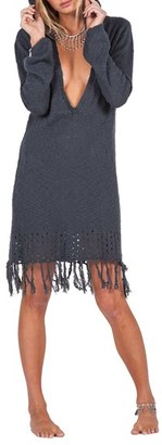 Volcom Shred Till Dead Hooded Sweater Dress $59.50 thestylecure.com