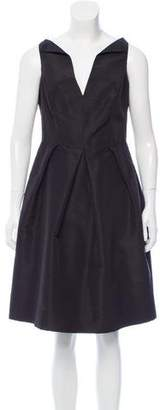 Oscar de la Renta Silk Knee-Length Dress