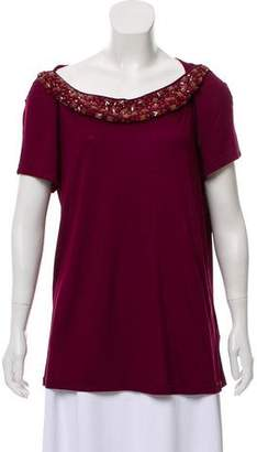 Burberry Embellished Short Sleeve Top