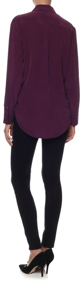 Equipment Cabernet Silk Signature Shirt