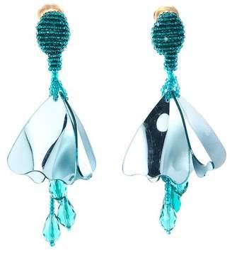 Oscar de la Renta Small Impatiens Drop Earrings