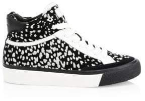 Rag & Bone Animal Print Leather& Suede Sneakers