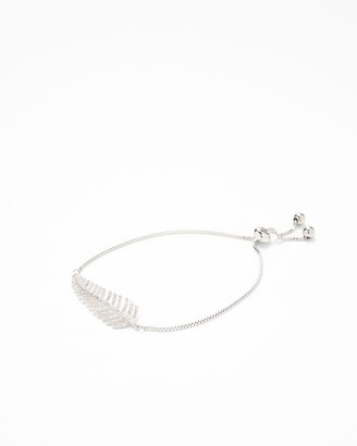 Express Cubic Zirconia Leaf Pull Chain Bracelet