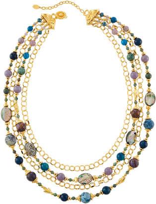 Jose & Maria Barrera Multi-Strand Bead & Chain Draped Necklace