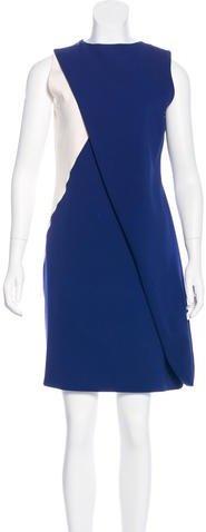 Christian Dior Silk Colorblock Dress