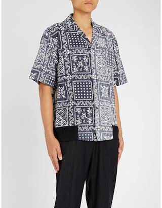 Sacai Reyn Spooner asymmetric floral-print cotton shirt