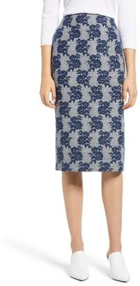 Halogen Mixed Pattern Pencil Skirt