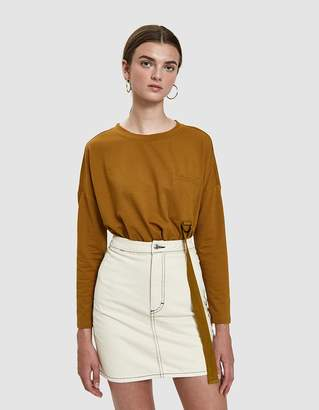 Bea Yuk Mui Farrow Long Sleeve Tee in Camel