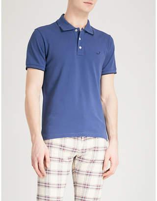 Jacob Cohen Logo-embroidered cotton-piqué polo shirt