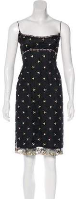 Collette Dinnigan Embroidered Knee-Length Dress