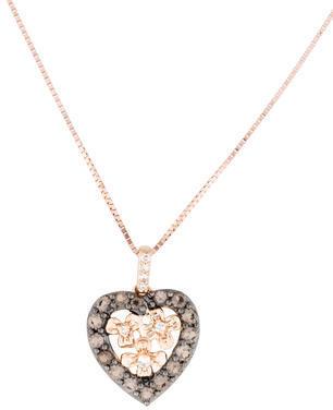 Le Vian Topaz & Diamond Heart Necklace $445 thestylecure.com