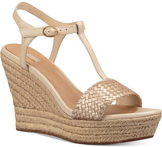 Ugg Fitchie Wedge Espadrille Dress Sandals $140 thestylecure.com