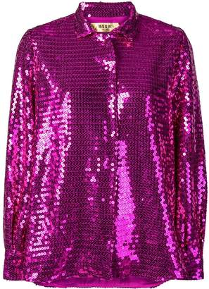 MSGM sequinned blouse