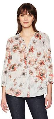 NYDJ Women's Pintuck Blouse