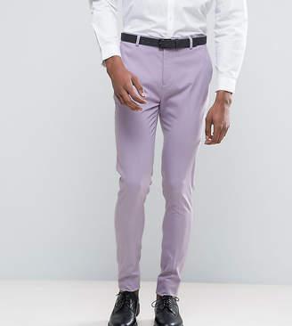 Asos Design TALL Super Skinny Smart Trousers In Light Purple