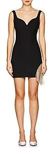Area Women's Francisco Crystal-Embellished Stretch-Twill Dress - Black