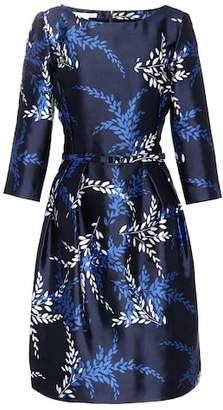 Oscar de la Renta Printed silk and cotton satin dress