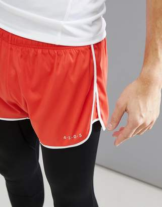 Asos 4505 running shorts with contrast trim in red