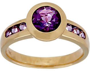 QVC Semi-Precious Gemstone Solitaire Ring, 14K Gold1.35 cttw