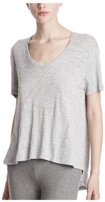 ATM Anthony Thomas Melillo Slub Jersey Heathered Boyfriend V-Neck Tee