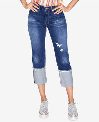 Rachel Roy Ripped Cuffed Jeans