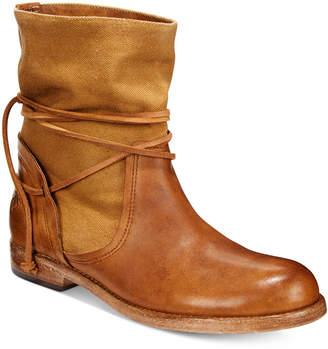 Patricia Nash Sabbia Canvas Mid Boots $249 thestylecure.com