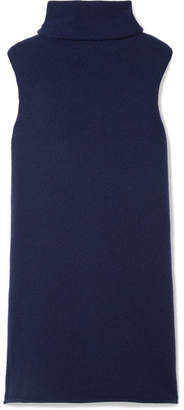 The Row Leond Roll-neck Cashmere And Silk-blend Tunic - Blue
