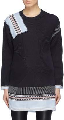 Sonia Rykiel x Liya Kebede graphic patchwork cotton-silk sweater