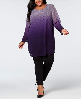 Alfani Plus Size Printed Super Tunic, Created for Macy's