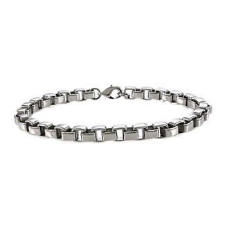 FINE JEWELRY Mens Stainless Steel 8 5mm Box Chain Bracelet