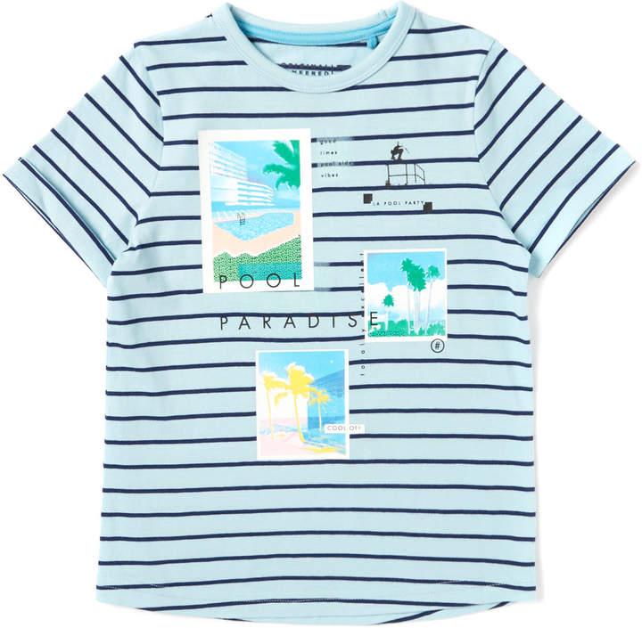 Tu Clothing Multicoloured Pool Paradise Striped T-Shirt