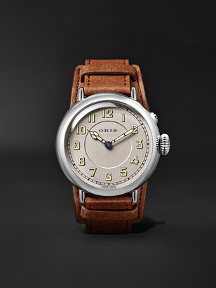 Oris Big Crown 1917 Limited Edition Automatic 40mm Stainless Steel and Leather Watch - Men - Silver