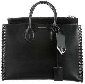 Calvin Klein Whipstitch Leather Tote
