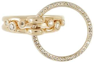 Charlotte Chesnais Fine Jewellery - Three Lovers Diamonds & Yellow Gold Ring - Womens - Yellow Gold