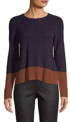 Eileen Fisher Colorblock Ribbed Sweater