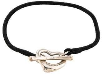 Tiffany & Co. Open Heart Silk Bracelet