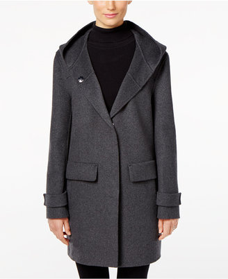 Jones New York Double-Faced Hooded Wool Walker Coat $360 thestylecure.com