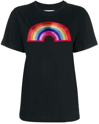 Alberta Ferretti beaded rainbow T-shirt