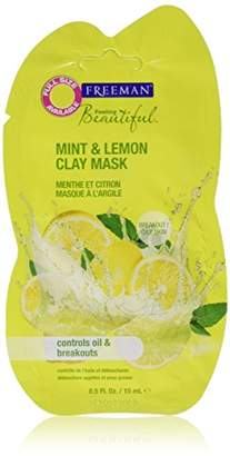 Freeman Facial Mint & Lemon Clay Mask Packette (Pack of 6)