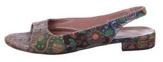 Miu Miu Brocade Slingback Sandals