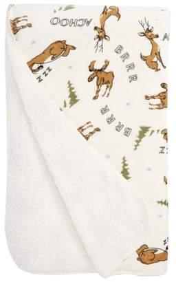 PJ Salvage Moose Print Blanket